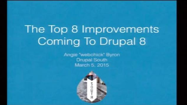 Embedded thumbnail for Drupal 8 - What you need to know by Angela Byron